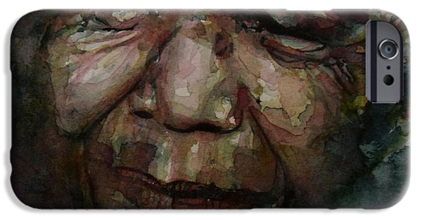 Statesmen iPhone Cases - Mandela   iPhone Case by Paul Lovering