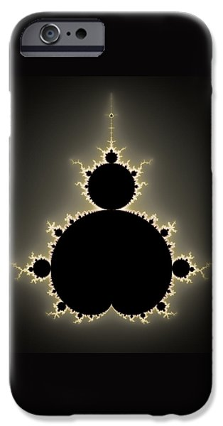 Abstract Digital Digital iPhone Cases - Mandelbrot set square format art iPhone Case by Matthias Hauser