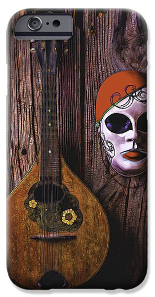 Treasure Box iPhone Cases - Mandolin Still Life iPhone Case by Garry Gay