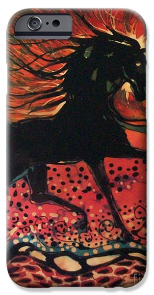 Horse Tapestries - Textiles iPhone Cases - Mane in Autumn Light iPhone Case by Carol Law Conklin