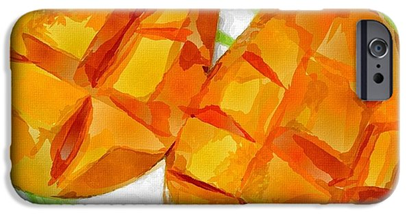 Mango Paintings iPhone Cases - Mango iPhone Case by Chris Butler