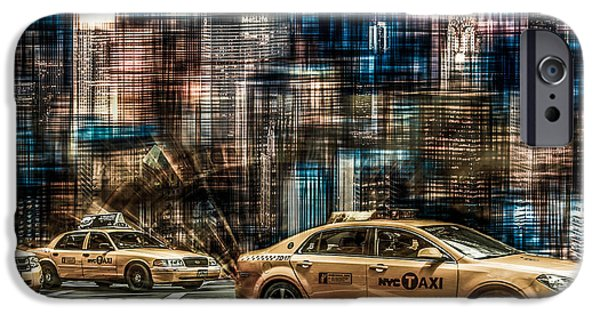 High Tower iPhone Cases - Manhattan - Yellow Cabs - future iPhone Case by Hannes Cmarits