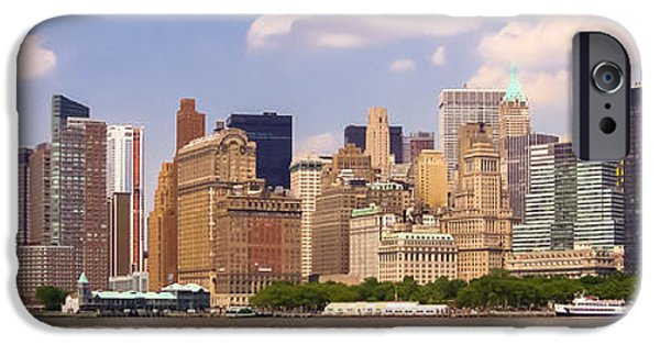 Consumerproduct iPhone Cases - Manhattan and the Hudson River iPhone Case by Alexandre Martins