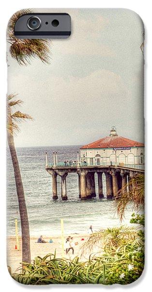 Manhattan Beach Pier iPhone Case by Juli Scalzi