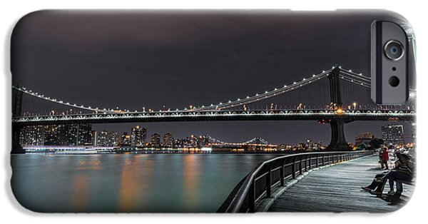 Hudson River iPhone Cases - Manhattan Bridge - New York - USA 2 iPhone Case by Larry Marshall