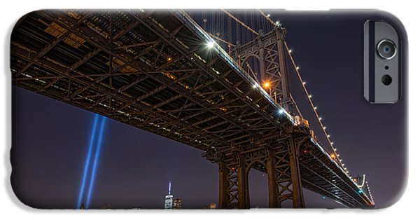 Manhatan iPhone Cases - Manhattan Bridge 911 iPhone Case by Michael Ver Sprill