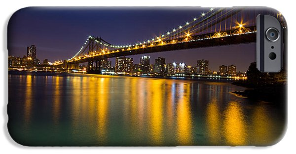 Beach Glass iPhone Cases - Manhattan Bridge iPhone Case by Mircea Costina Photography