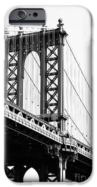 Financial Interest iPhone Cases - Manhattan Bridge iPhone Case by Robert Yaeger