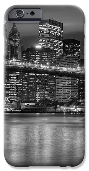 Manhattan Night Skyline IV iPhone Case by Clarence Holmes