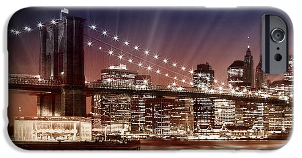 Facade Digital iPhone Cases - Manhattan NYC - The Setting Sun iPhone Case by Melanie Viola