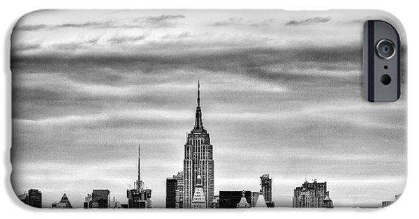 The New York New York iPhone Cases - Manhattan Skyline iPhone Case by John Farnan