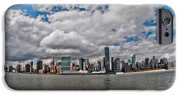 Empire State iPhone Cases - Manhattan Skyline iPhone Case by Vitaly Levin