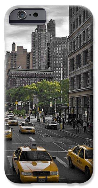 Distortion iPhone Cases - Manhattan Streetscene iPhone Case by Melanie Viola