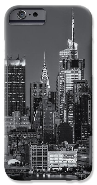 Nast iPhone Cases - Manhattan Twilight IX iPhone Case by Clarence Holmes