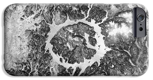 Charts iPhone Cases - Manicouagan Crater iPhone Case by Anonymous