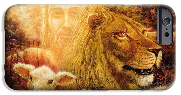Jesus Face iPhone Cases - Manifold Majesty iPhone Case by Graham Braddock