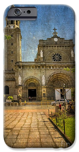 Catholic Church iPhone Cases - Manila Cathedral iPhone Case by Adrian Evans