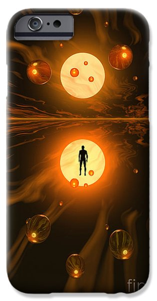 Cyberspace Digital Art iPhone Cases - Mankinds Ability To Harness Atomic iPhone Case by Mark Stevenson