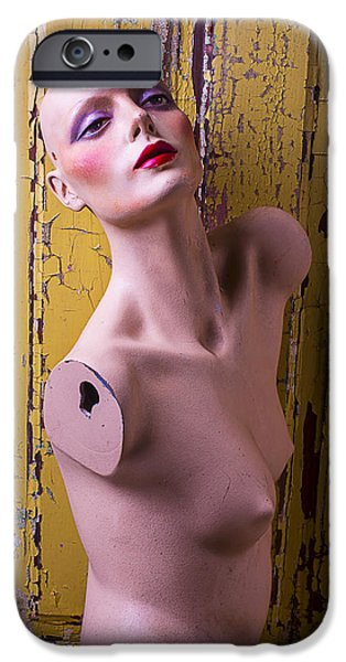 Chip iPhone Cases - Mannequin Beauty iPhone Case by Garry Gay