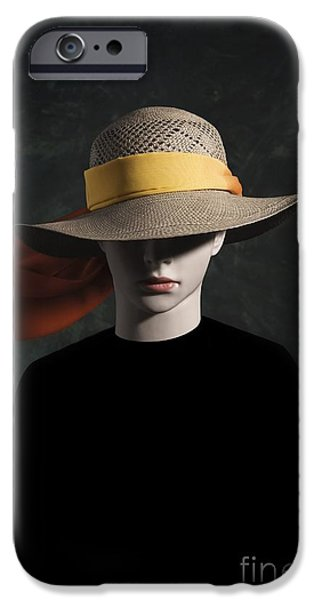 Eerie iPhone Cases - Mannequin With Hat iPhone Case by Carlos Caetano