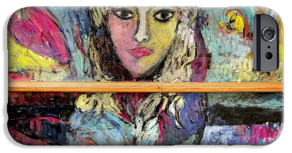 Paint Glass Art iPhone Cases - Manners Backside iPhone Case by Mykul Anjelo