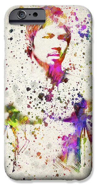Fight Digital iPhone Cases - Manny Pacquiao iPhone Case by Aged Pixel