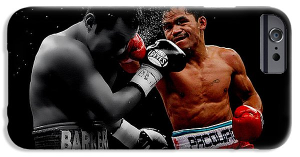 Champ Boxer iPhone Cases - Manny Pacquiao iPhone Case by Brian Reaves