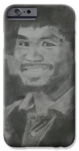 Champ Boxer iPhone Cases - Manny Pacquiao iPhone Case by Terence Leano