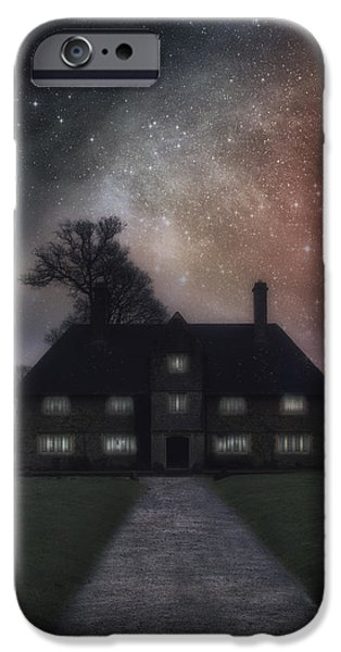 Somerset iPhone Cases - Manor At Night iPhone Case by Joana Kruse