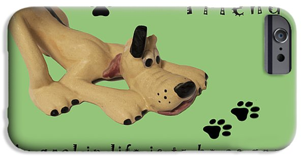 Canine Prints Digital iPhone Cases - Mans Best Friend iPhone Case by Barbara Snyder