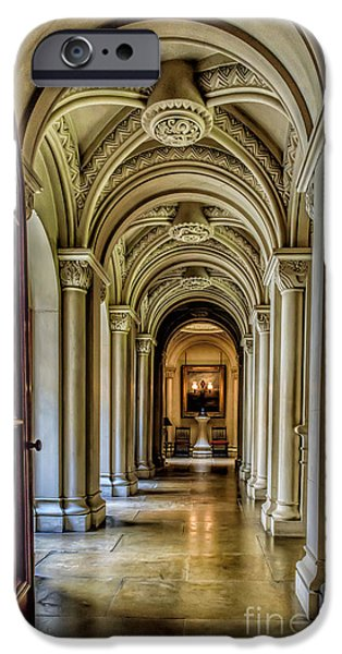 Mansion iPhone Cases - Mansion Hallway iPhone Case by Adrian Evans