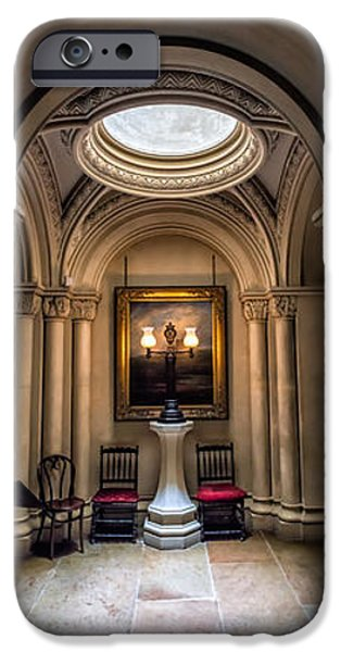 Mansion Hallway Triptych iPhone Case by Adrian Evans