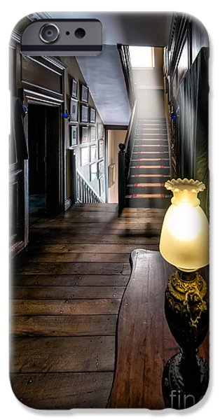 Mansion iPhone Cases - Mansion Lamp iPhone Case by Adrian Evans