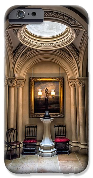 Furniture iPhone Cases - Mansion Lamps iPhone Case by Adrian Evans