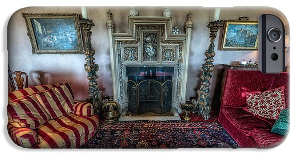 Cushions iPhone Cases - Mansion Sitting Room iPhone Case by Adrian Evans