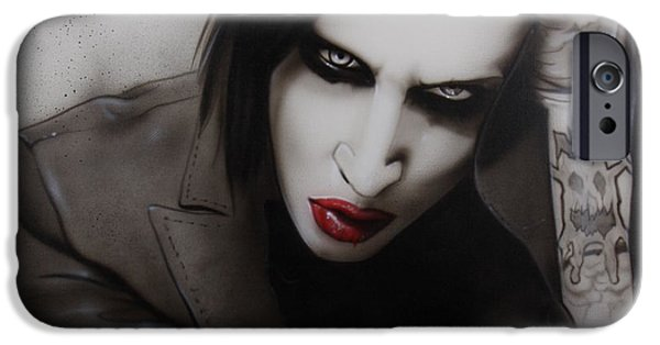 Marilyn Portrait iPhone Cases - Manson II iPhone Case by Christian Chapman Art