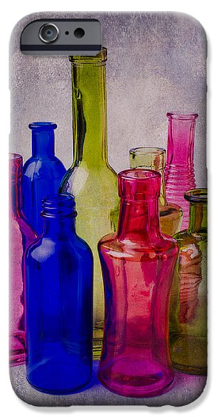 Many iPhone Cases - Many Colorful Bottles iPhone Case by Garry Gay