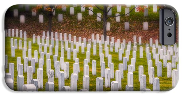Headstones Digital Art iPhone Cases - Many have Fallen iPhone Case by Jerry Fornarotto