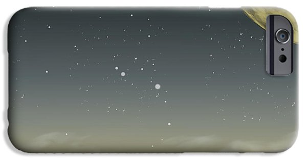 Digitally Created iPhone Cases - Many Moons Ago iPhone Case by Brian Wallace