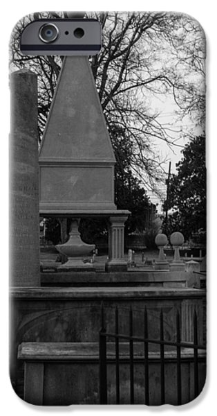 Final Resting Place iPhone Cases - Many Tombstones iPhone Case by Robert Hebert