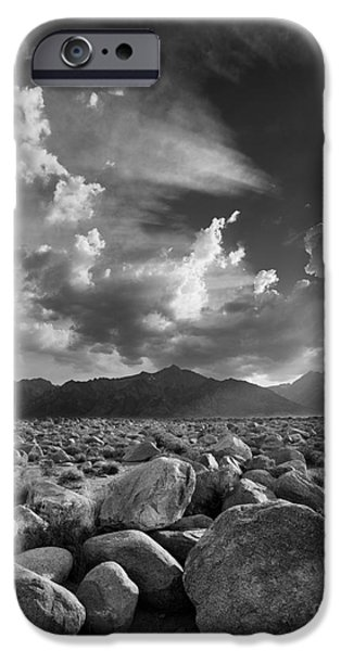 Pm iPhone Cases - Manzanar Boulders 1 iPhone Case by Don Hall