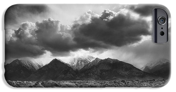 Pm iPhone Cases - Manzanar Boulders 2 iPhone Case by Don Hall