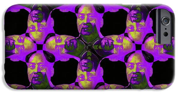 Chairman Digital Art iPhone Cases - Mao Abstract 20130202m88 iPhone Case by Wingsdomain Art and Photography