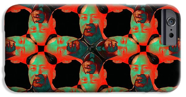 Chairman Digital Art iPhone Cases - Mao Abstract 20130202p0 iPhone Case by Wingsdomain Art and Photography