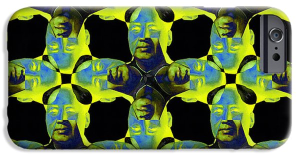 Chairman Digital Art iPhone Cases - Mao Abstract 20130202p60 iPhone Case by Wingsdomain Art and Photography