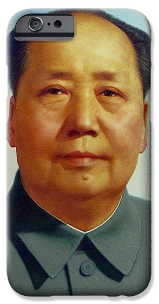 Chairmen iPhone Cases - Mao Zedong  iPhone Case by Unknown