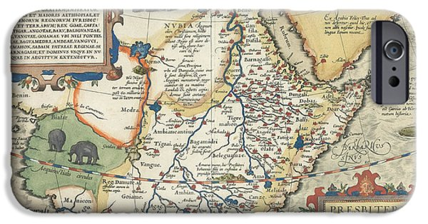 Ethiopia iPhone Cases - Map of Africa and the Arabian Peninsula iPhone Case by Abraham Ortelius