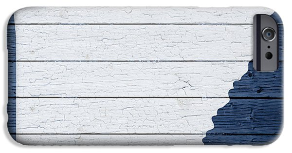 Arkansas iPhone Cases - Map Of Arkansas State Outline White Distressed Paint On Reclaimed Wood Planks iPhone Case by Design Turnpike