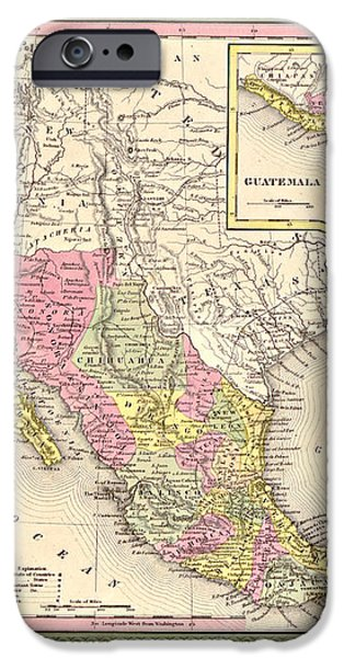 Map of Mexico iPhone Case by Gary Grayson