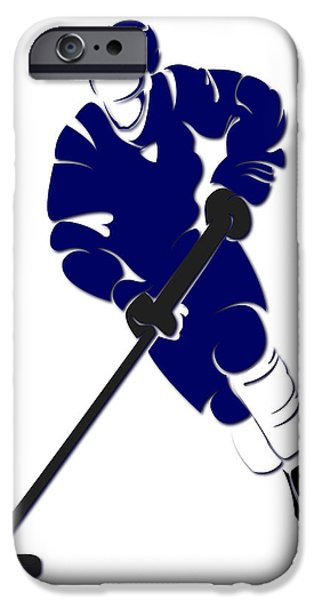 Toronto Maple Leafs iPhone Cases - Maple Leafs Shadow Player iPhone Case by Joe Hamilton